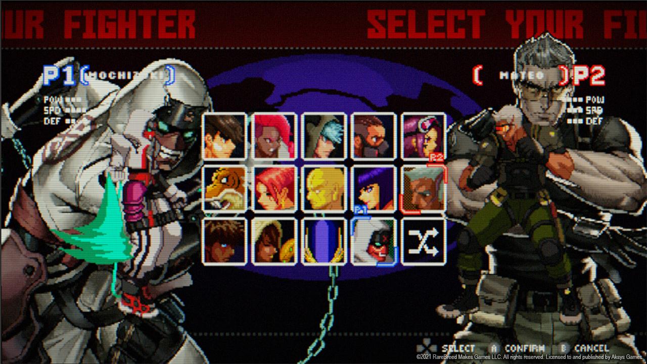 Blazing Strike character roster screenshot