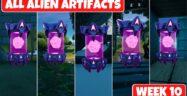 Fortnite Chapter 2 Season 7 Week 10 Alien Artifacts Locations Guide