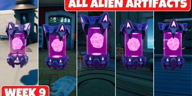 Fortnite Chapter 2 Season 7 Week 9 Alien Artifacts Locations Guide