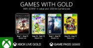 Xbox Games with Gold for August 2021 Lineup